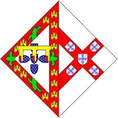 Heráldica Real Portuguesa: Maio 2008 -  Armas de D. Isabel de Bragança (1402-1465) Casou com o Infante D. João, filho de D. João I de Portugal e de D. Filipa de Lencastre. Era sua sobrinha. Esta foi filha do 1º Duque de Bragança, D. Afonso, filho ilegítimo de D. João I.