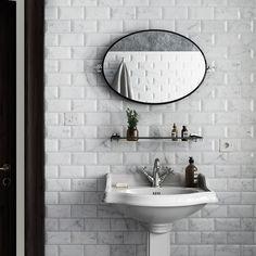 Metrotegel marmerlook blanco wit mat 7,5 x 15 cm per m2