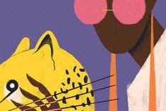 Elegant textured illustrations by Willian Santiago