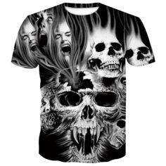 Skull Haunted T-Shirt | Skullflow Casual T Shirts, Men Casual, Mens T Shirts Online, Skull Shirts, Skull Print, Printed Shorts, Types Of Sleeves, Street Wear, Mens Tops