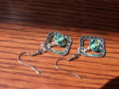Czech Picasso Crystal Earrings Boho Shabby Chic by JewelrybyJacobe