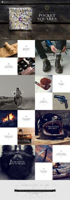 Idea how to display Instagram on website or news/updates... Cutthroat & Cavalier Website by Brijan Latest Modern Web Designs. http://webworksagency.com