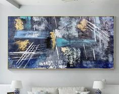 Large Abstract Painting on Canvas Large Canvas Painting Huge | Etsy