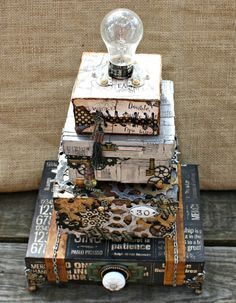 Msliberty Creations: Graphic 45 Final Round Projects - Steampunk Faux Cake! Inspired by the incredible cakes on Pinterest! - I used STeampunk Spells , Typography, and a bit of Good Ol' Sport; Apr 2014