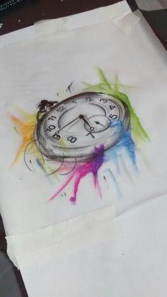 Relógio aquarela