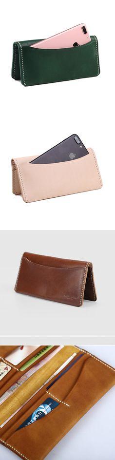 Handmade leather vintage women long wallet clutch phone purse wallet Leather Bags Handmade, Leather Craft, Wallets For Women Leather, Long Wallet, Clutch Wallet, Leather Clutch, Vintage Ladies, Purses, Phone