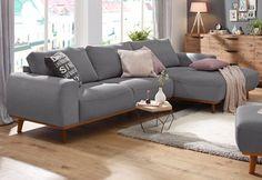 Home affaire Ecksofa »Gabrielle« mit Holzrahmen, im eleganten skandinavischen Design