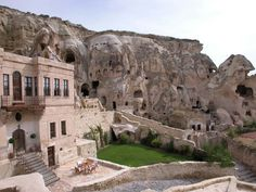 six ancient cave houses in turkey were converted into yunak evleri, a 30-room, 5-star hotel. i'm wondering why these caves weren't protected since they're, you know, ancient, but the hotel is beautiful.