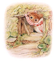 """She gathered up the moss and the remains of the beeswax. Then she went out and fetched some twigs, to partly close up the front door. """"I will make it too small for Mr. Jackson!"""""""