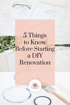 5 Things to Know Before Starting a DIY renovation -- debating whether to tackle a renovation on your own? Here's some helpful things to know! Cheap Renovations, Renovation Budget, Kitchen On A Budget, Diy On A Budget, Boredom Busters For Kids, Things To Know, 5 Things, Custom Pillow Cases, Crafts For Kids To Make