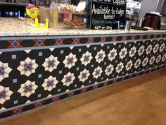 Using heritage geometric tile designs for funky cars and cafes