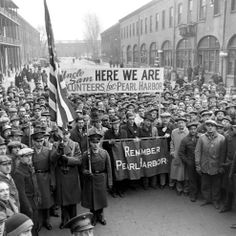 U.S. A rally at the Brooklyn Navy Yard, December 1941 // George Strock—Time  Life Pictures (not published)
