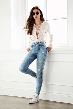Lace-Up Pocket Top - Tops - Blouses + Shirts - 2000182176 - Forever 21 EU English