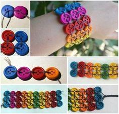 Rainbow-Button-Bracelet