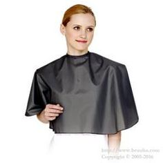 http://www.beauba.com/products/detail.php?product_id=12233 105 Color Cape Smoke Gray. #HairStylingTools #CuttingCloths/CuttingCapes  Sleeveless cape that feels pleasantly silky even though it's strongly waterproof. For shampooing.