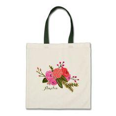 Custom | Vintage Garden Budget Tote Bag