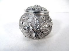 Antique Sterling Silver Tea Strainer Infuser Basket Stieff Figural Rose Ball   eBay