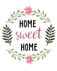 Home Sweet Home Botanical Ornament - chic gifts diy elegant gift ideas personalize Image Deco, Sweet Home, Watercolor Logo, Home Free, Clipart, Printable Wall Art, Free Printables, Diy And Crafts, Crafty