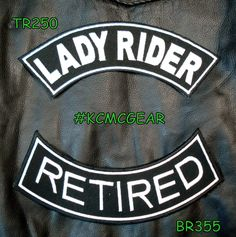 Lady Rider Retired Embroidered Patches Motorcycle Biker Patch Set for Jackets  #sturgismidwestinc