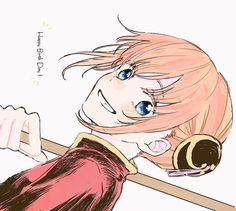 Anime Figures, Anime Characters, Kamui Gintama, Gintama Funny, Okikagu, Anime Love Couple, Pretty Art, Cute Illustration, Anime Couples