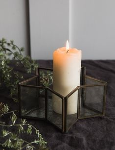 Brass & Glass Star Candle Holder at Rose & Grey. Buy online now from Rose & Grey. - Decoration Fireplace Garden art ideas Home accessories Candle Lanterns, Pillar Candles, Fireplace Garden, Vintage Home Accessories, Star Candle, Christmas Rose, Christmas Inspiration, Garden Art, Candle Holders