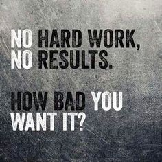No Hard Work, No Results. How Bad You Want It? - BIllie Anderson