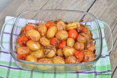 Cartofi noi copți cu roșii cherry și usturoi - la cuptor | Savori Urbane
