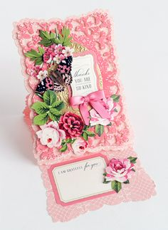 Elegant Easel Card Making Kit - Anna Griffin sidestepcard Fancy Fold Cards, Folded Cards, Unique Cards, Cool Cards, Card Making Kits, Making Ideas, Side Step Card, Spellbinders Cards, Anna Griffin Cards