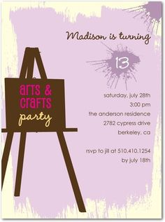 art & crafts party