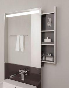 Wastafels en opbergoplossingen zijn de aanvullingen op de lichtspiegelkast-serie 'Emco Monolith' van Emco Bad.