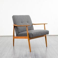Filigraner 60er Jahre Sessel, Kirschholz