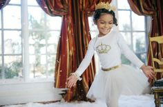 sew lati children's clothing, sweet little ballerina with a golden crown