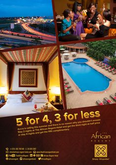 It's Friday! The weekend does not count unless you spend it at The African Regent Hotel with our exciting summer promotion packages. Go on book now!  #luxury #hotel #accra #Ghana #summerpromo #travel.