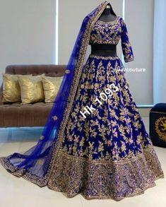 Party Wear Indian Dresses, Desi Wedding Dresses, Asian Wedding Dress, Indian Bridal Outfits, Party Wear Lehenga, Indian Bridal Wear, Blue Bridal, Pakistani Dresses, Bridal Dresses