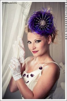 The hair fascinator makes this fabulous