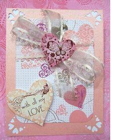 Hearts With All My Love handmade card