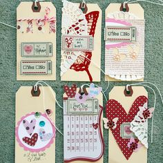 Valentine's Day tags from Stephanie Howell http://www.stephaniehowell.com/my_weblog/ #valentine's #hearts #paper_crafting