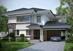 19 Gorgeous Houses That Will Leave You Speechless Bungalow House Design, Modern Bungalow, Modern House Design, Luxury House Plans, Dream House Plans, Modern Architecture House, Architecture Design, Two Storey House, Dream House Exterior