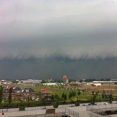 Barendrecht, Netherlands. Shelf cloud, if I'm correct.