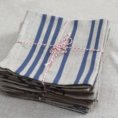 French Stripes - Linen Napkins - hardtofind.