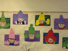 Children wearing Winter hats & mittens- Construction paper/crayons/scissors