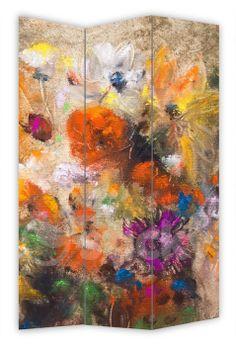 Folding Screen WATERCOLOR FLOWERS by Sticky!!!