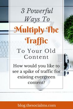How would you like to see a huge spike in traffic to some of your old content? Here are some easy ways to give new life and traffic to old content - and boost your overall traffic? Internet Marketing, Online Marketing, Media Marketing, Digital Marketing, Business Marketing, Apps, Content Marketing Strategy, Blogging For Beginners, Make Money Blogging