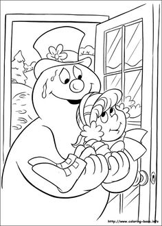 Frosty the snowman coloring picture