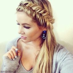 fishtail started from behind the ear