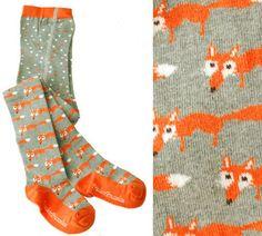 Weiteres - Fuchs Kinderstrumpfhose GRAU - ein Designerstück von Fraeulein-Prusselise bei DaWanda