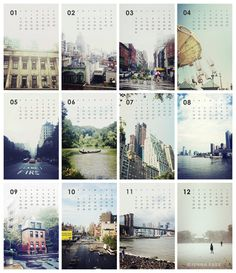 2013 A Year of NY Calendar - Photography Calendar - NYC Calendar for Sandy Relief. $24.00, via Etsy.                                                                                                                                                     More