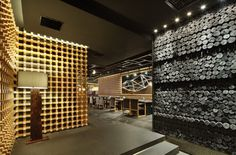 Golucci International Design have completed the interior of the Yakiniku Master Japanese barbecue restaurant in Shanghai, China
