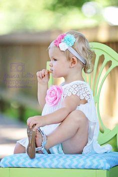 Pink & Teal Baby Headbands, Newborn Headband, Baby Headbands, Infant Headbands, Headbands for Babies, Headbands for Baby, Babies Headbands. Pink & Teal Baby Headbands Newborn Headband by BabyliciousDivas, $9.95