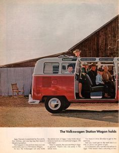 1965 Volkswagen Station Wagon Van Bus print Ad Many Windows in Jiggs Nevada 2 page ad on Etsy, $9.00